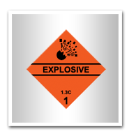 Labels for transport of dangerous materials